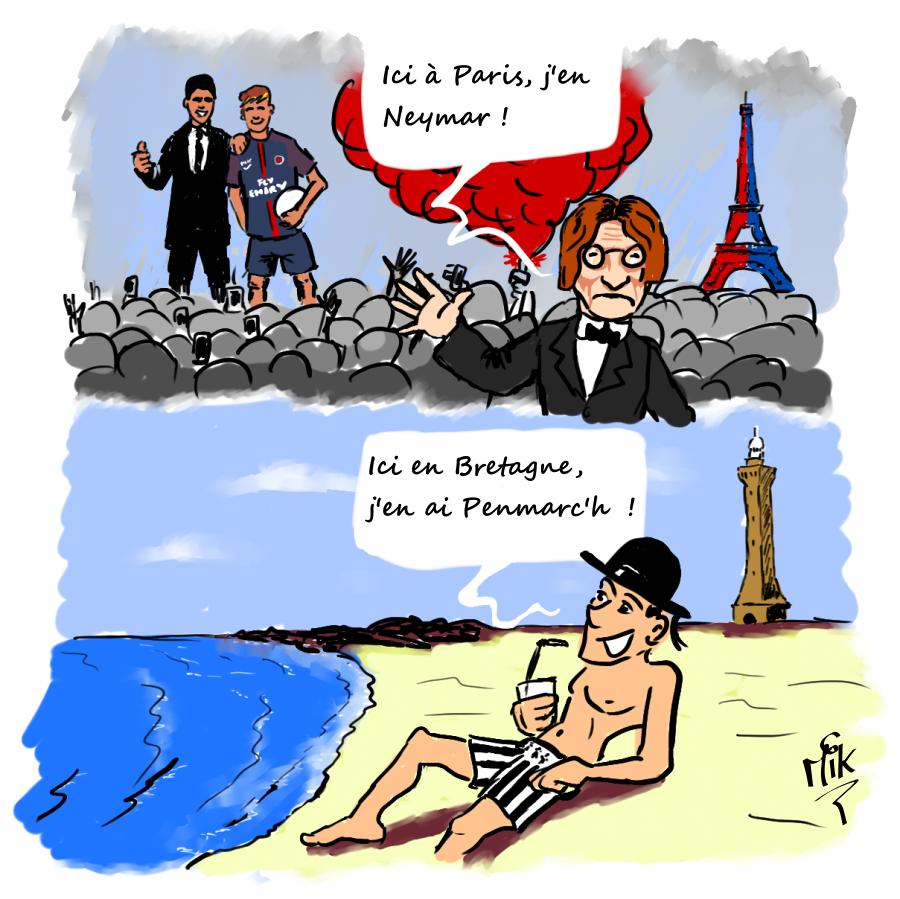 humour neymar, psg, bretagne